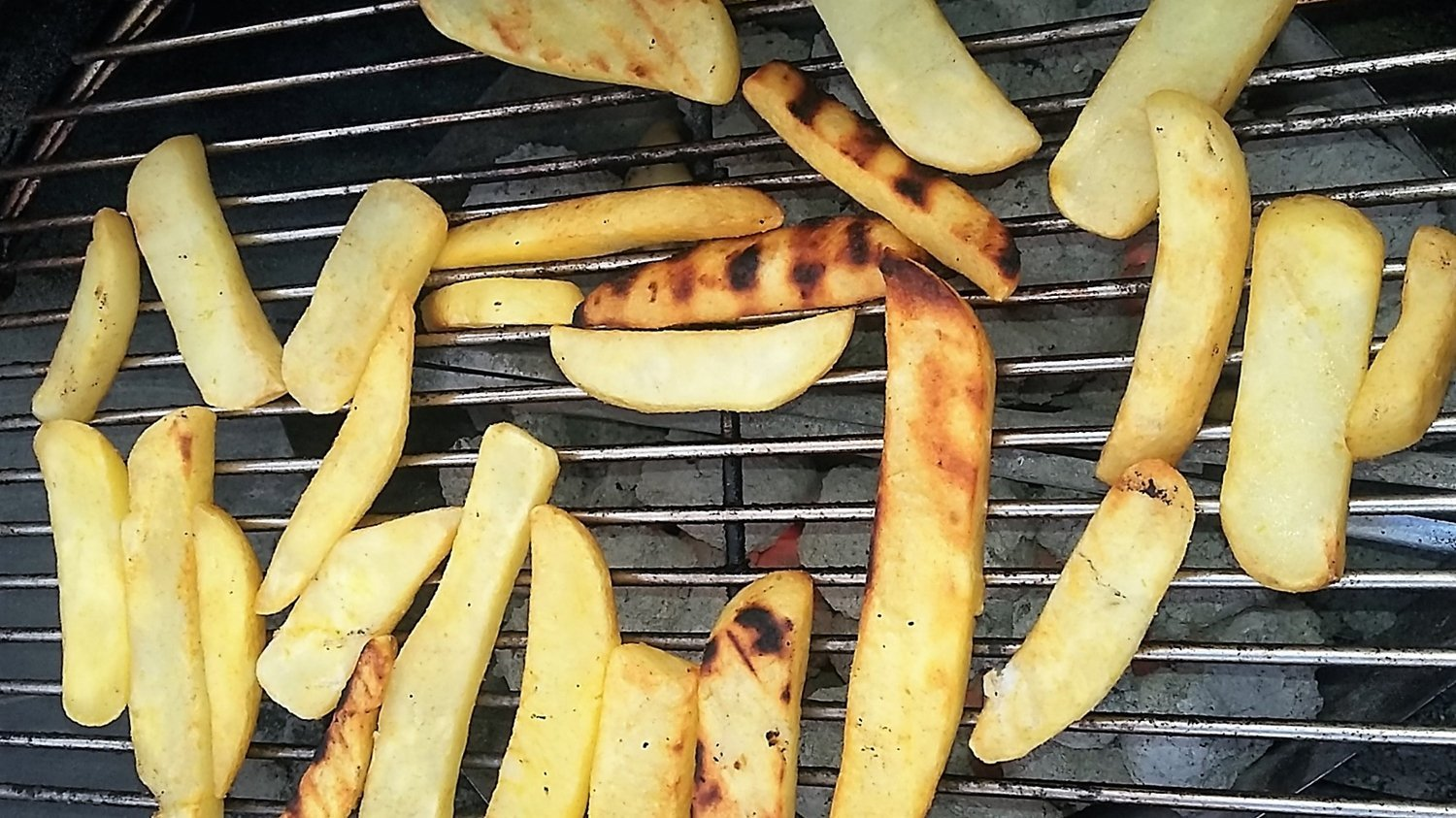 finished grilled frozen french fries