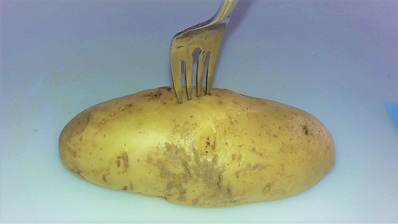 how to grill a whole potato prep