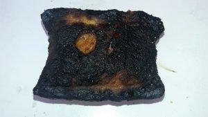 Burnt pizza roll