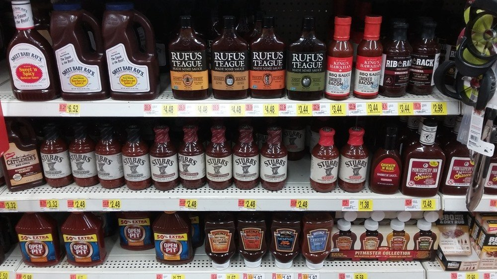 barbecue sauces on store shelves