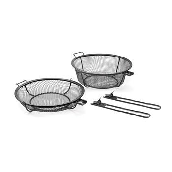 Grill basket chefs wire mesh shaker