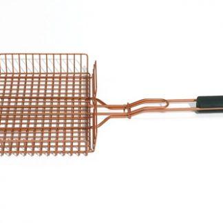 Copper look grill basket
