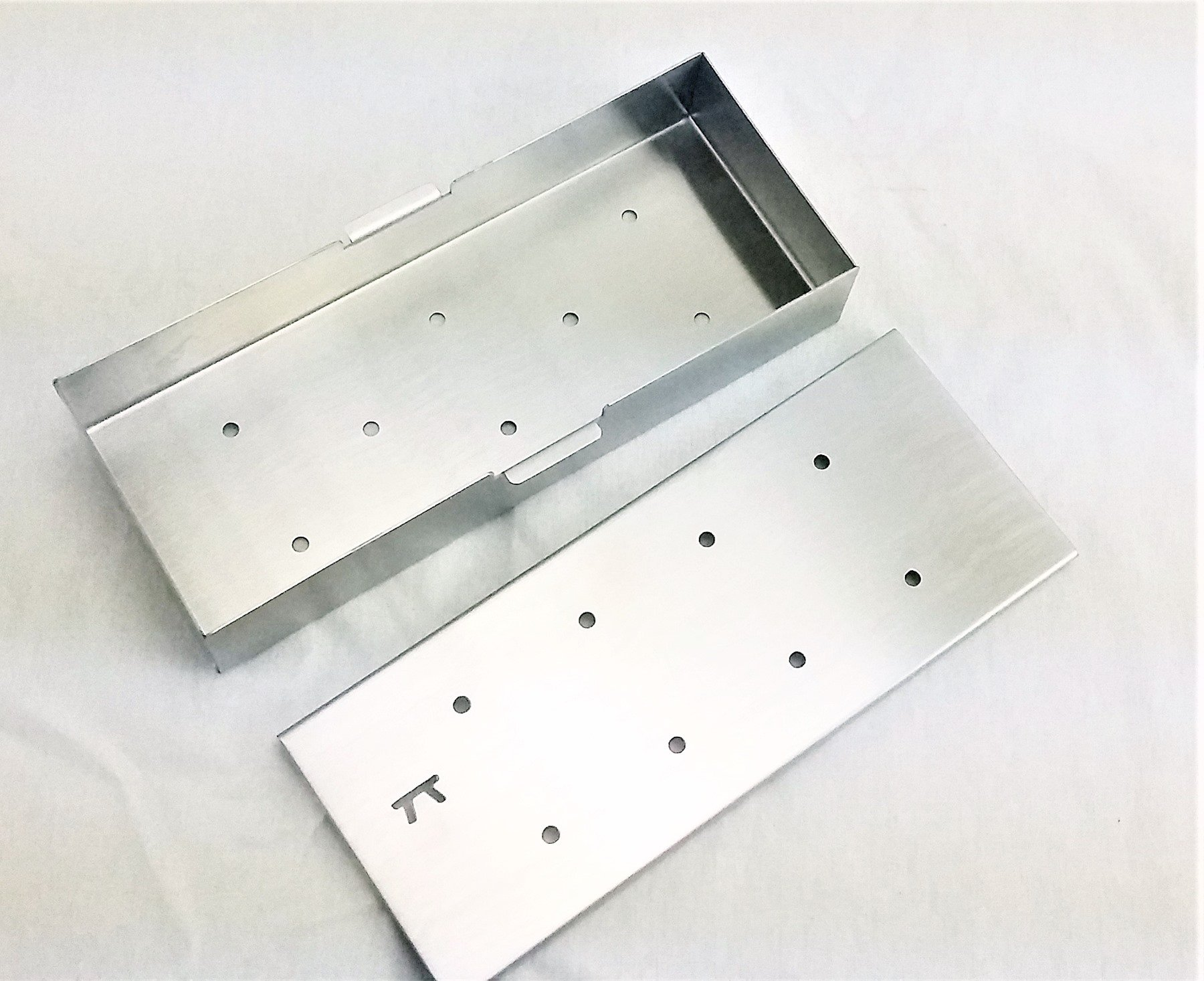 stainless wood chip smoker box for gas grills. Black Bedroom Furniture Sets. Home Design Ideas