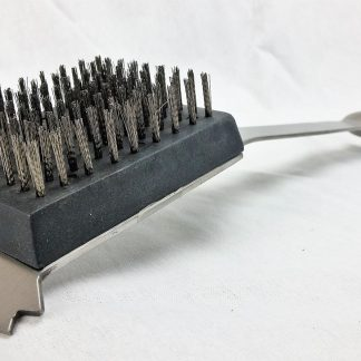 stainless steel handle grill brush