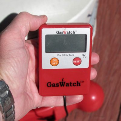Gaswatch propane tank scale display red