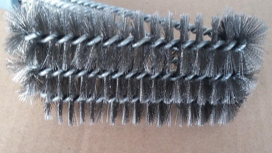 best grill brush head close up