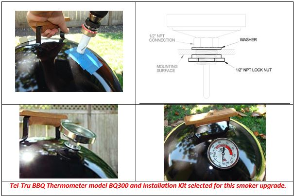 Tel-tru barbecue thermometer mounting instructions