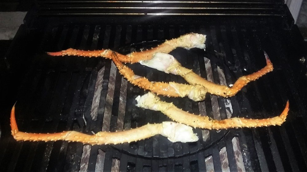 King Crab Legs on the grill