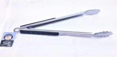 Steven Raichlen long grill tongs unlocked