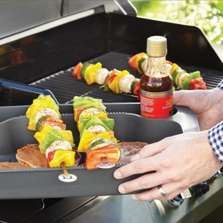 Grill Prep Station in use