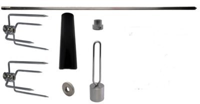 rotisserie spit rod kit