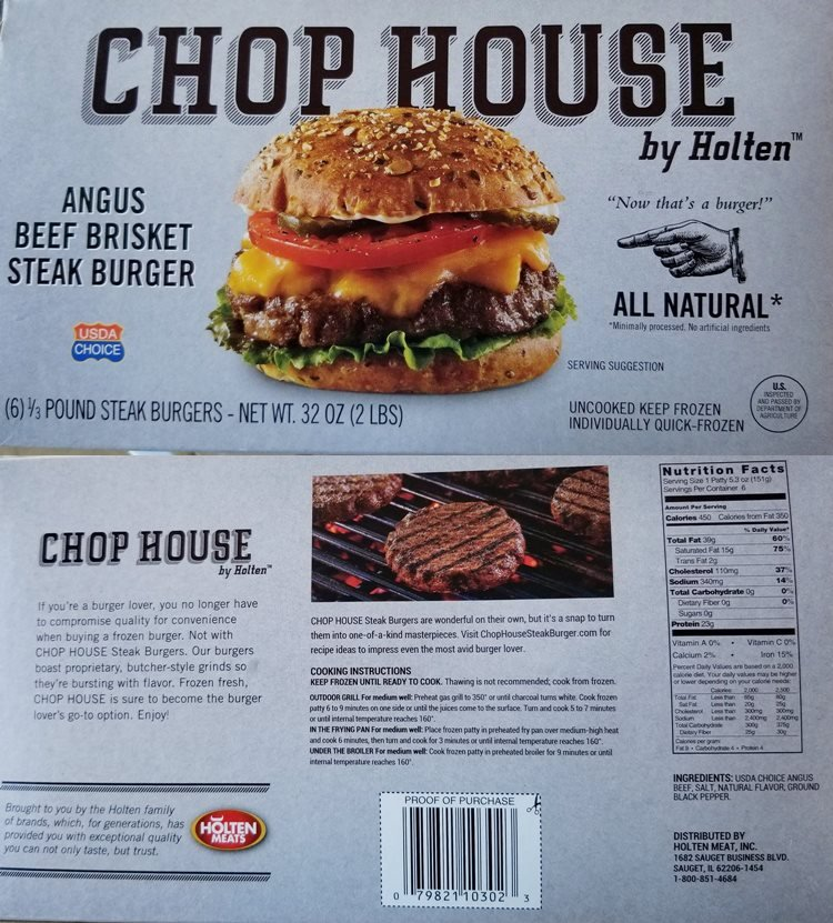 chop house burger box